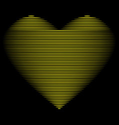 heart gold line on black sign 1601 vector image