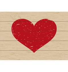 heart on wood vector image