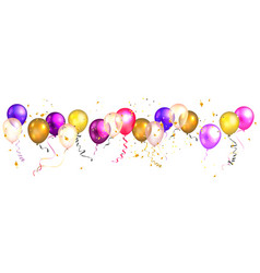 holiday balloons isolated vector image