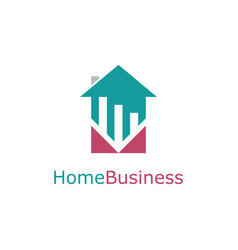 home trade business logo vector image