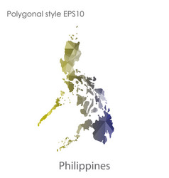Isolated icon philippines map polygonal vector