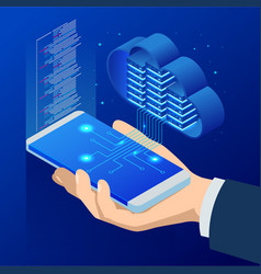 Isometric cloud computing concept isometric cloud vector