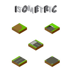 Isometric road set of plane rotation subway and vector
