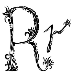 letter R r vector image vector image