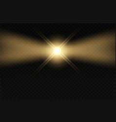 Lighthouse light blink effect lamp fog night vector