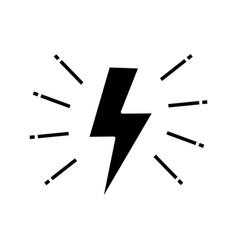 lightning bolt glyph icon vector image