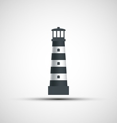 Logo old lighthouse vector