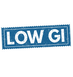 Low glycemic index gi sign or stamp vector