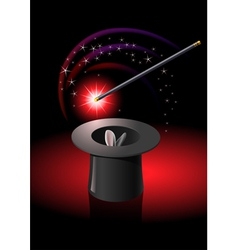 magic tricks hat vector image