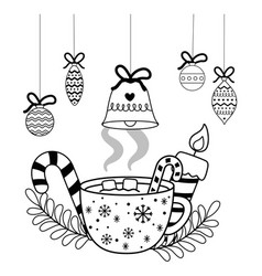 Merry christmas cup design vector