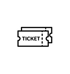 movie ticket icon coupon isolated vector image