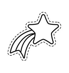 Patch cute shooting star applique vector