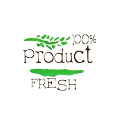 Percent Fresh Products Promo Sign vector