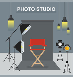 photo studio interior vector image