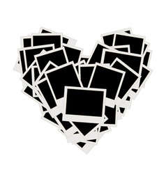 photos heart shape vector image