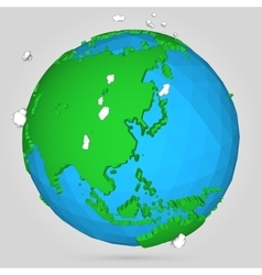 Poly earth globe vector