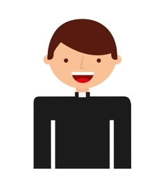 Priest man religious icon vector