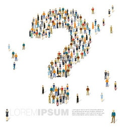 Question mark of people crowd template vector image