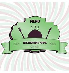 Restaurant menu label brochure design element with vector