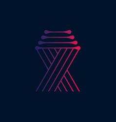 ribbon symbol vector image