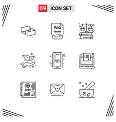 Set 9 modern ui icons symbols signs for mobil vector