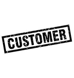square grunge black customer stamp vector image