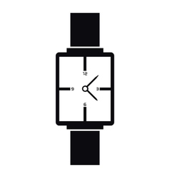 Square wristwatch icon simple style vector