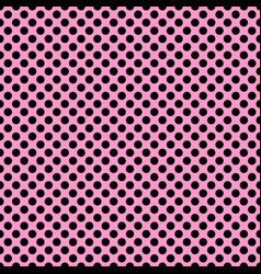 Tile pattern with black polka dots on pink vector