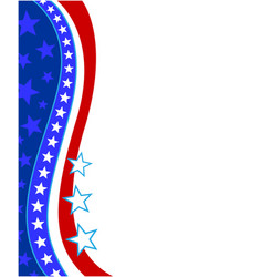 Usa decorative flag frame vector