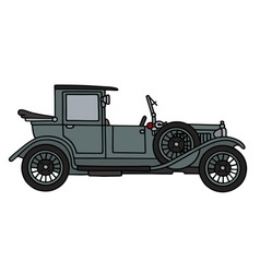 Vintage gray big limousine vector
