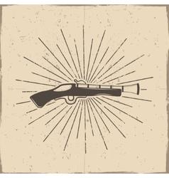 Vintage postol label poster old ammunition vector