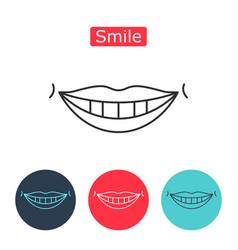 white teeth smile icon vector image