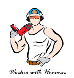 workman vector image