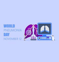 World pneumonia day concept helath care in 12th vector