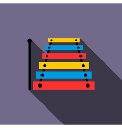 Xylophone icon in flat style vector