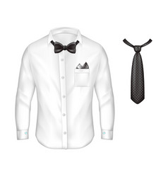 3d realistic set of male formal wear vector image vector image