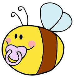 Baby Bee Cartoon Character vector image