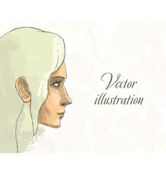Beautiful woman portrait Hand drawn vector image vector image
