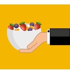 Cereal bowl menu icon vector
