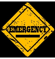 emergency sign vector image