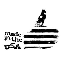 Made in the USA Thumb up gesture symbol American vector image vector image