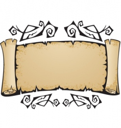 old torn scroll with pattern vector image