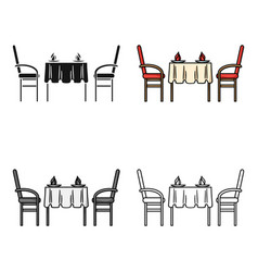 restaurant table icon in cartoon style isolated on vector image vector image