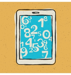 tablet device with digits vector image