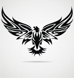 Eagle bird tribal vector