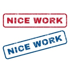 Nice Work Rubber Stamps vector image vector image