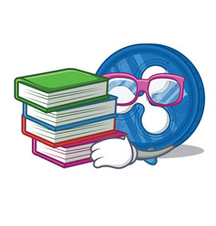 Student with book ripple coin character cartoon vector