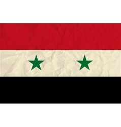 Syria paper flag vector image