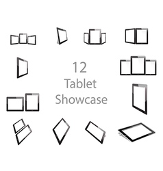 Tablet Screen Showcase vector image