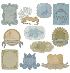 Vintage Set of Labels and Tags vector image